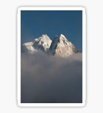 Ama Dablam sitting in the clouds Sticker