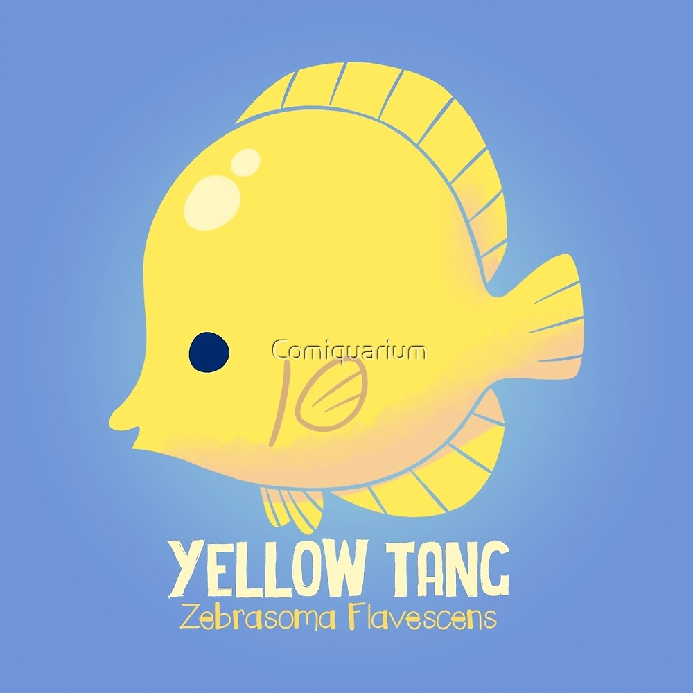 Yellow Tang 2 by Comiquarium