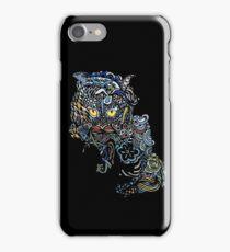 Dragon Cat Color on Black iPhone Case/Skin