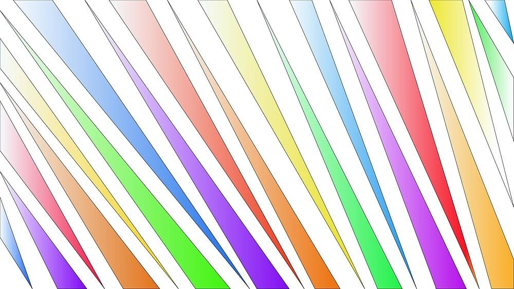 rainbow tiger stripes by graciekieffer