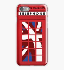 London Calling, Vintage Phone Booth, Union Jack iPhone Case/Skin