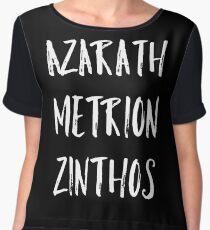 Azarath Metrion Zinthos Women's Chiffon Top