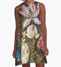 Vintage famous art - Balthasar Van Der Ast  - Still-Life With Flowers A-Line Dress