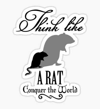 Think like Rat VRS2 Sticker