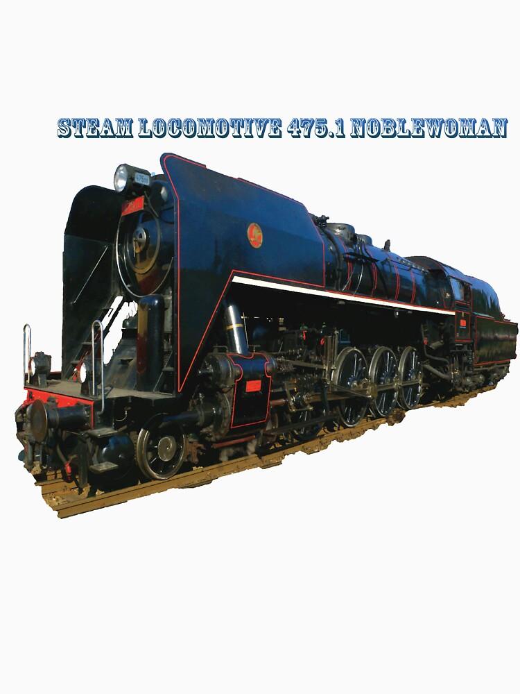 Steam locomotive 475.1 noblewoman by Hujer