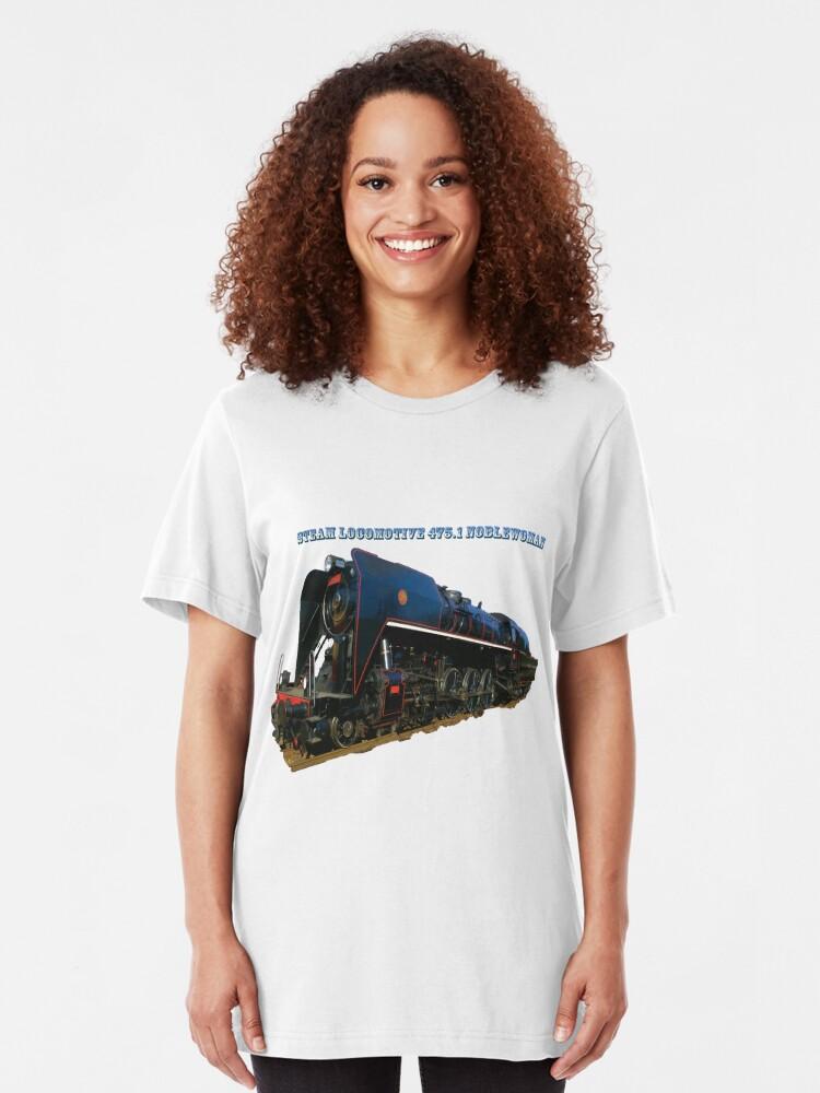 Alternate view of Steam locomotive 475.1 noblewoman Slim Fit T-Shirt