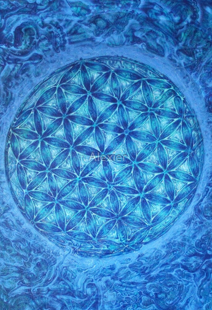 Flower of life as a tablecloth by Alexier
