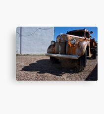Old Vehicle VII  BW - Ford Truck Color Canvas Print