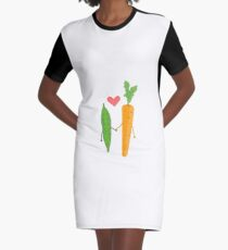Peas & Carrots in love Graphic T-Shirt Dress