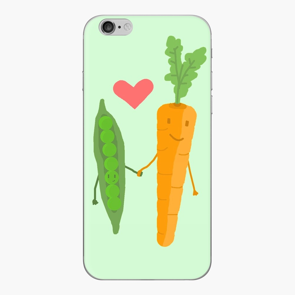 Peas & Carrots in love iPhone Cases & Covers