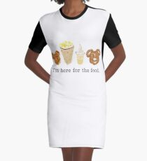 Here for the food. Graphic T-Shirt Dress
