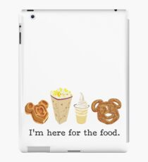 Here for the food. iPad Case/Skin