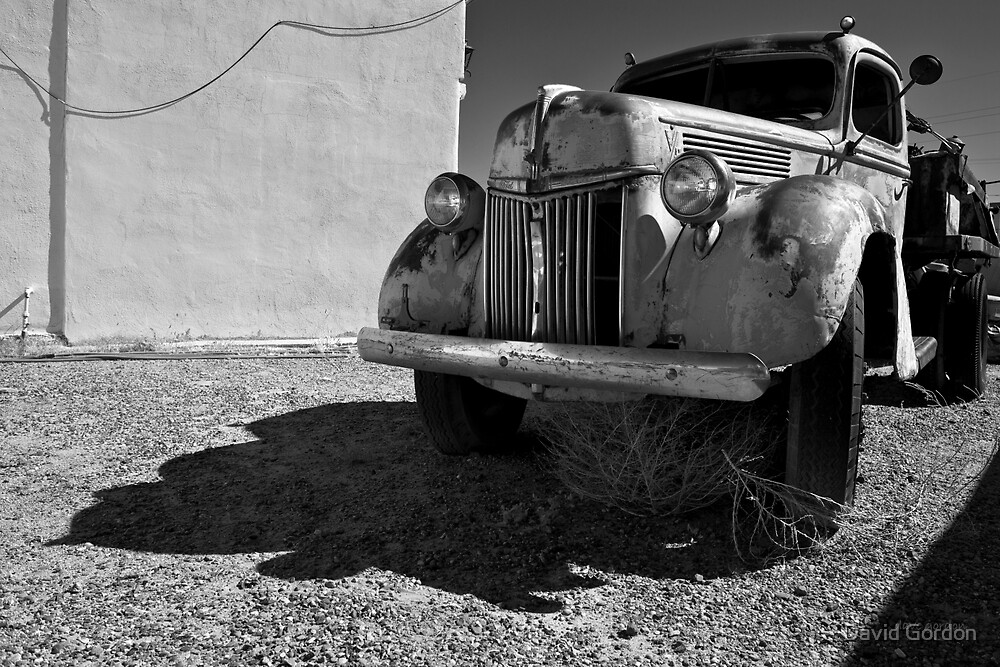Old Vehicle VII  BW - Ford Truck by David Gordon