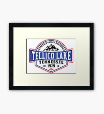 TELLICO LAKE TENNESSEE BOATING BOAT TENNESSEE VALLEY AUTHORITY TVA CAMPING HIKING Framed Print