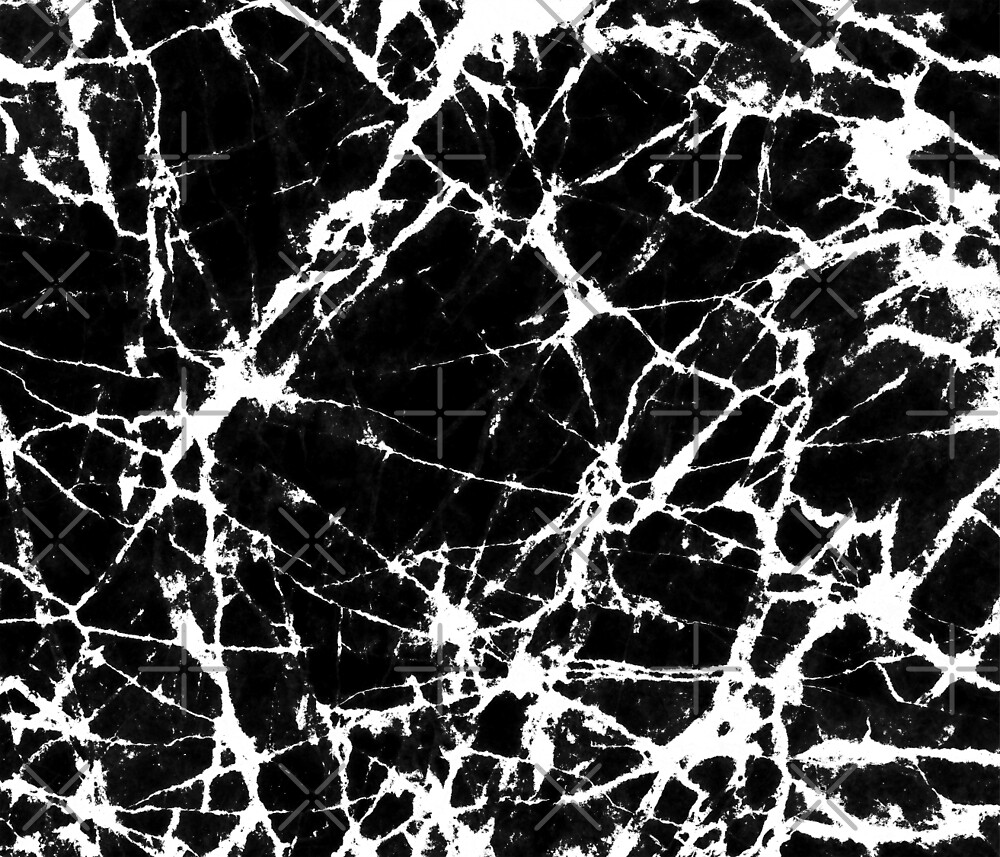 Black And White Marble Pattern by artonwear