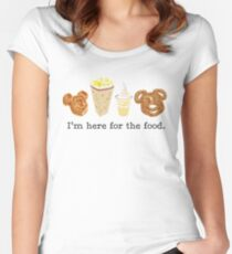 Here for the food. Women's Fitted Scoop T-Shirt