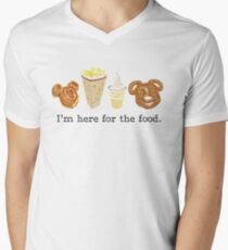 Here for the food. Men's V-Neck T-Shirt