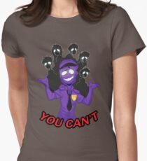 Purple Guy Womens Fitted T-Shirt