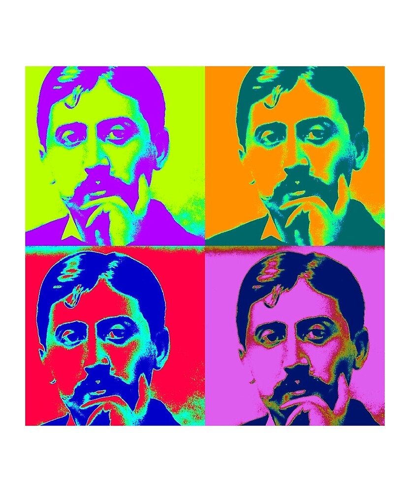 Marcel Proust Pop Art - In Search of Lost Time by Peter Vance