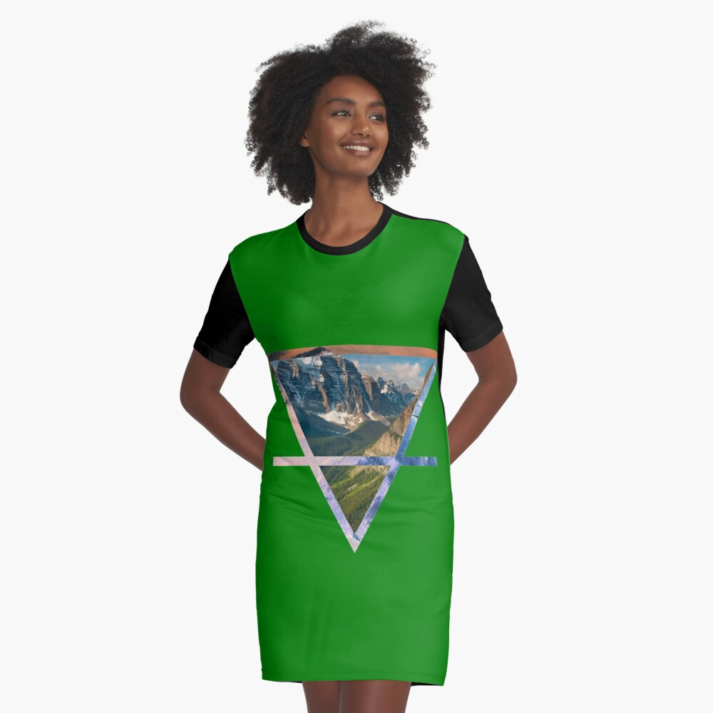 Earth Graphic T-Shirt Dress Front