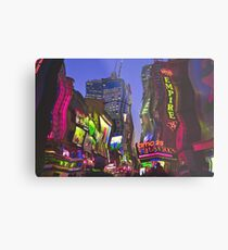 Melting in Times Square Metal Print