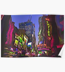 Melting in Times Square Poster