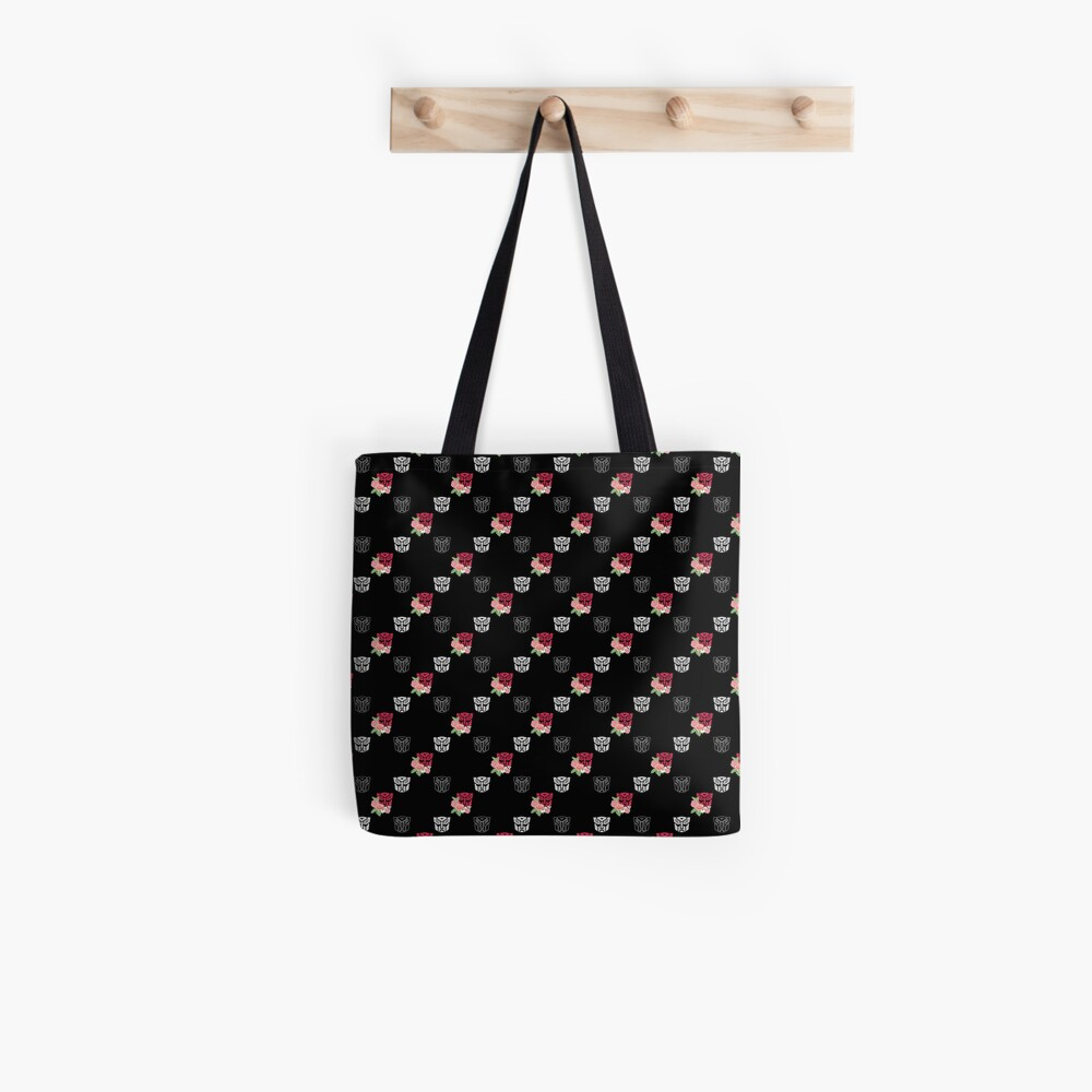 Autobot floral repeat pattern  Tote Bag