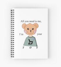 Cuaderno de espiral Block B (BBC) Kpop Toy Lyrics inspirado Teddy Bear