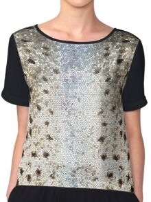 Trout Scales & Stained Glass Chiffon Top