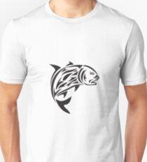 Giant Trevally Jumping Tribal Art Unisex T-Shirt