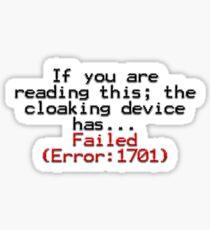 Erreur 1701 Sticker