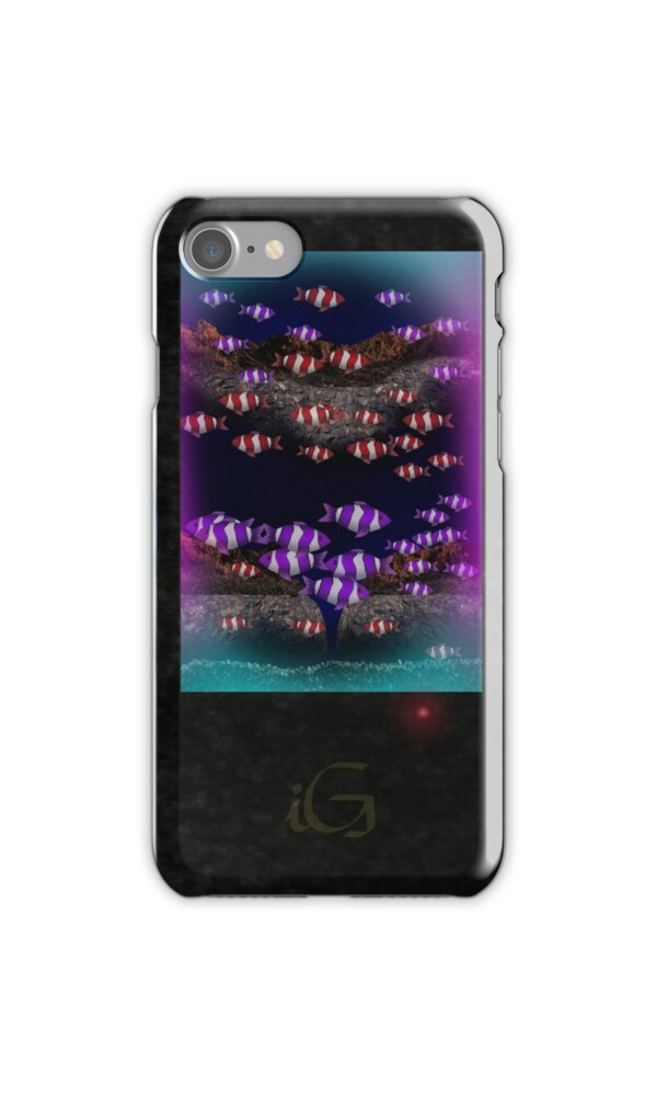 Fish tank iphone cases skins by thebigg2005 redbubble for Snap on fish tank