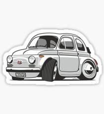 Fita 500 Nuovo caricature white Sticker