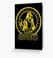 Will Ospreay Greeting Card