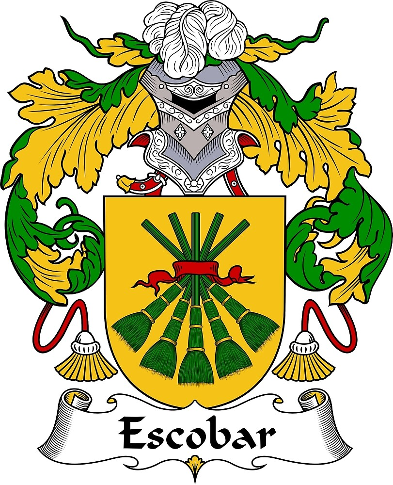 Escobar Coat of Arms/ Escobar Family Crest by William Martin