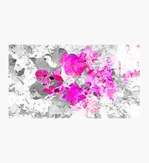 Abstract pink floral art (bougainvillea) Photographic Print