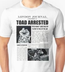Toad Arrested Newspaper Unisex T-Shirt