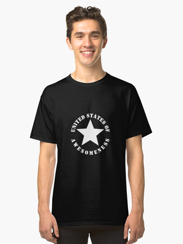United States of Awesomeness Classic T-Shirt Front