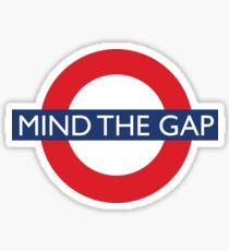 Mind The Gap - British - London Underground Design Sticker