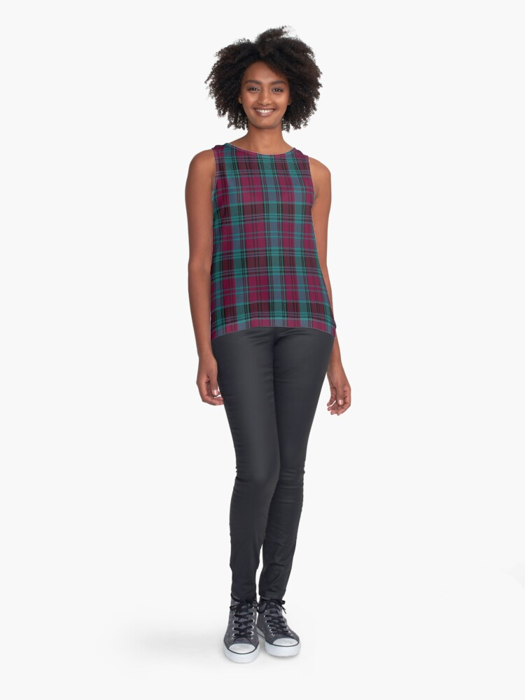 Alternate view of 01550 Alma College Tartan Sleeveless Top