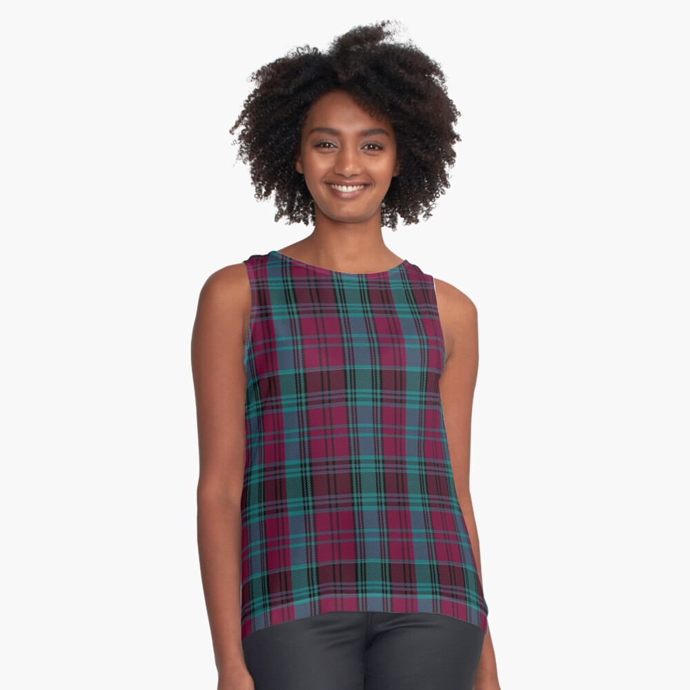 01550 Alma College Tartan Sleeveless Top