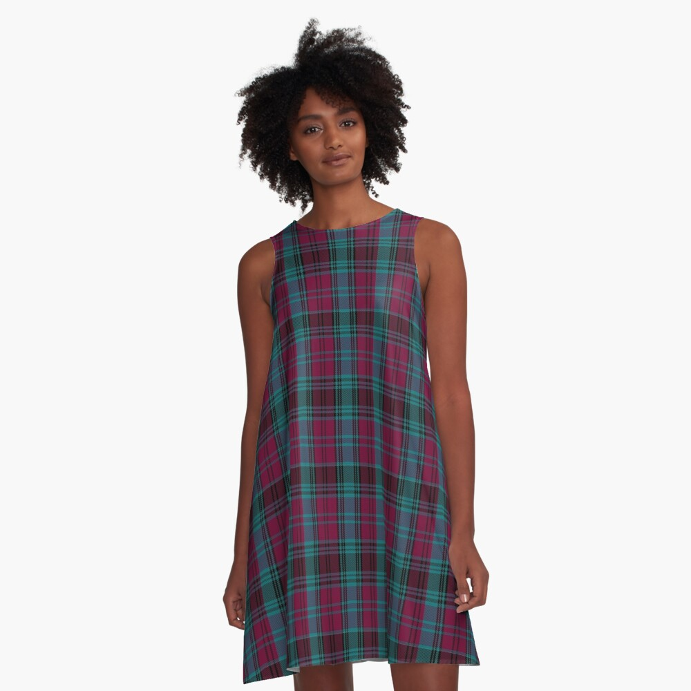 01550 Alma College Tartan A-Line Dress