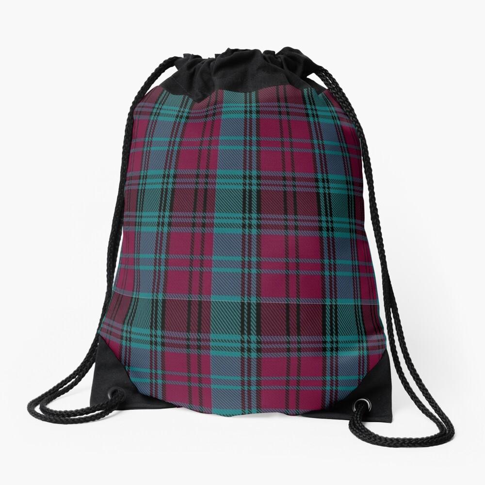 01550 Alma College Tartan Drawstring Bag