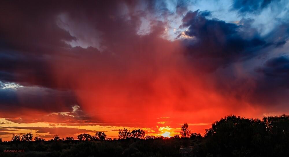 Fiery Sky, Menzies WA Australia by IsithombePhoto