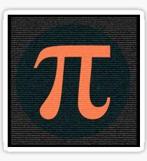 First 10,000 digits of Pi, blue and orange. Sticker
