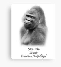 Rest in Peace, Harambe Metal Print