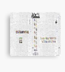 Mystic Suburb Comic Montage Canvas Print