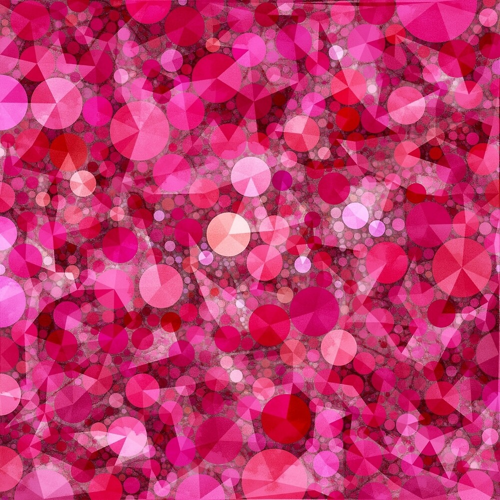 Razzle Dazzle Raspberry Abstract by Dana Roper