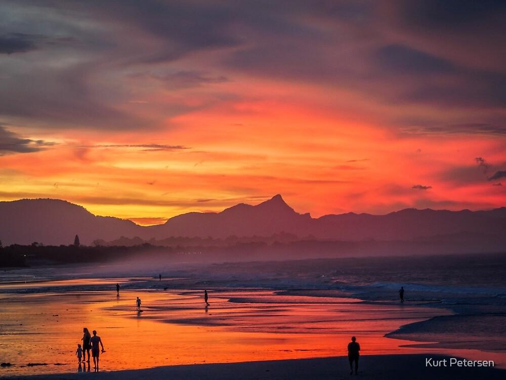 Belongil Sunset by Kurt Petersen