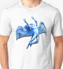 ICARUS THROWS THE HORNS - bright blue ***FAV ICARUS GONE? SEE BELOW*** T-Shirt
